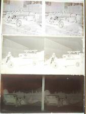 Lot plaque stéréo négatif photo - Voiture ancienne dont luxe à identifier