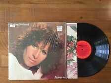Original BARBRA STREISAND LP RECORD MEMORIES TG 37678 Barbara Shrink Glossy