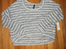 NWT PACSUN Striped Cropped Long Sleeve Sweater Medium M MSRP $29.50