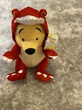 SOFT PLUSH POOH BEAR IN T-REX DINOSAUR OUTFIT FROM DISNEY'S WINNIE THE POOH