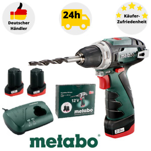 Metabo Bohrschrauber PowerMaxx BS 10,8 V Bohrmaschine 2xAkku Ladegerät im Karton