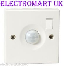 PIR AUTOMATIC MOVEMENT MOTION SENSOR ACTIVATED WALL LIGHT SWITCH OVERIDE SWITCH