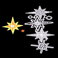Beautiful Stars Framed Metal Cutting Dies For Scrapbooking Card Craft Decor FT