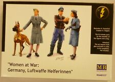 Master Box 1/35 German Luftwaffe Men Women & Dog Figures Model Kit 3557