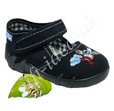 *Boys Canvas Shoes Nursery Toddler Slippers Sandals Trainers Size Uk3 = Eu19