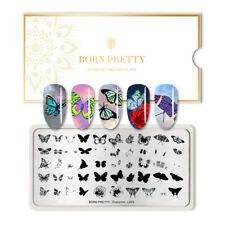 BORN PRETTY Stamping Plates Rectangle Nail Art Stamp Template Overprint L003