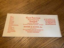 Vintage Ink Blotter Paper-Advertising- New York & Detroit- 1931