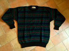 S.Moritz Knitwear Vintage Maglione Girocollo Lana Sweater Shetland Fair Isle  XL