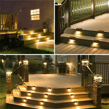 12PCS Solar LED Deck Lights Outdoor Path Garden Stairs Step Fence Lamps Brown US