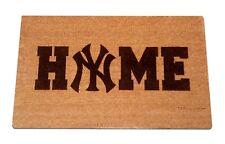 New York Yankees Home Laser Engraved Welcome Mat, 100% Natural Coir Fiber