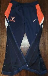 New Nike College Virginia Cavaliers UVA Snap Breakaway Pants Men's Large Blue