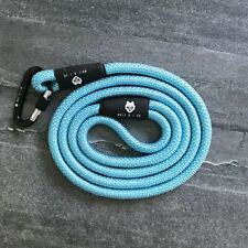 WOLF AND I CO. LIGHT BLUE 6 FT LONG, STRONG, LIGHT CLIMBING ROPE DOG LEASH
