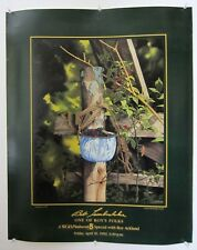 """1992 Bob Timberlake Cobbler Berries Poster """"Roy's Folks"""" Very Good Condition!"""