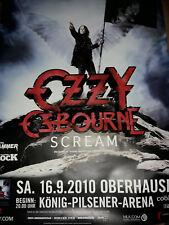 Ozzy Osbourne 119cm A0 Oberhausen 2010 Tour Konzert Plakat Concert Poster