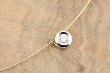 CHRIST Gold Collier 585 14K Bicolor 1 Brillant ca. 0,10ct VS2 I Länge 43cm