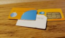 3x At&T and Unknown Standard Sim Cards