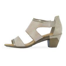 RIEKER Damen Sandalette 67358-62 Beige / 40 / Sandalen, High Heels