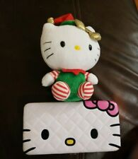 Genuine Sanrio Hello Kitty 'Boutique' Hard Case Long Wallet Coin Purse w ty Doll