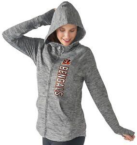 """Cincinnati Bengals Women's NFL G-III """"Recovery"""" Full Zip Hooded Sweatshirt"""