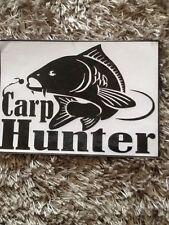 car fishing sticker carp hunter for outside of motor