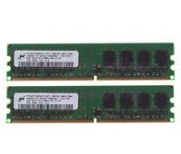 4GB Micron 2x 2GB 2Rx8 PC2-4200 Desktop RAM DDR2 533MHZ Memory DIMM 240Pin INTEL