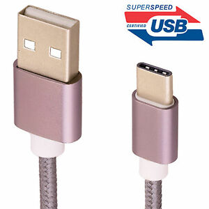 Strong Braided Heavy Duty USB C 3.1 Type-C Data Snyc Charger Charging Cable