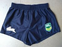 S NRL SOUTH SYDNEY RABBITOHS RUGBY LEAGUE FOOTY SHORTS NWOT