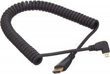 Micro HDMI Stecker Rechts Gewinkelt zu HDMI Standard Kabel Spiralkabel 50-80 cm