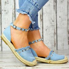 LuXus Damen Espadrilles Slipper Damenschuhe Party Pumps Ballerinas Schnür Schuhe