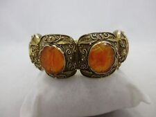 Antique CHINESE EXPORT Silver Bracelet with carnelian, Hallmarked Cina Bracciale