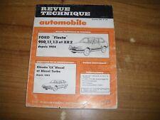 REVUE TECHNIQUE FORD FIESTA 950 - 1.1 - 1.3  - XR 2 depuis 1984