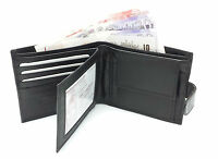 MENS LUXURY SOFT QUALITY REAL LEATHER WALLET CREDIT CARD HOLDER PURSE