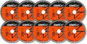 10 x WellCut TCT Saw Blade 160mm x 48T x 20mm Bore Suitable Festool TS55 HK55