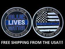 "Blue Lives matter large ~2"" Challenge Coin BLM law enforcement police"