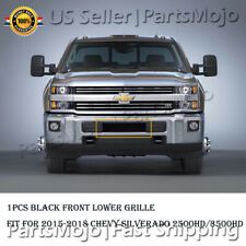 Black Bumper Billet Grille Insert For 2015-2018 Chevrolet Silverado 2500/3500HD