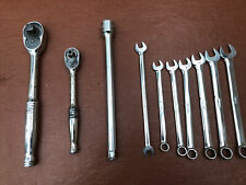 Snap-on Tools 1/2 Inch & 3/8 Ratchet, Extension Bar, Spanners Job Lot