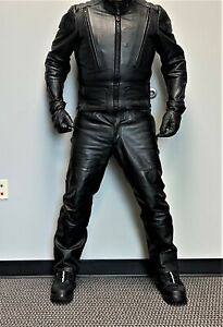 Hein Gericke Gold Label V Pilot Black Leather Jacket and Boot Cut Jean Pants