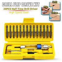 20pcs Multi-function Drill Bit Set Easy Operation Drill Flip Drive Drill Kit