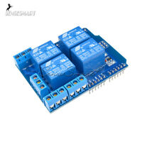 4 Channel Relay Shield Terminal DC 5V Development Board for Arduino UNO R3