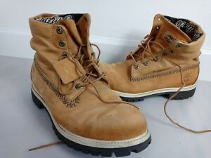 Size 12M Timberland Men's Heritage Logo Roll-Top 59518 7840 Brown Leather