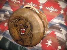 Native American Powwow Drum - Hand Painted Apache Drum by Red Hand