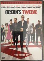 Oceans Twelve - BRAND NEW, SEALED DVD - George Clooney, Brad Pitt - Widescreen