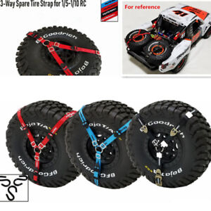 RC 3-Point Spare Tyre Tie Down Strap For 1/5 1/10 Crawler Car Traxxas TRX-4/UDR
