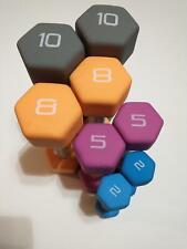 Cap Hex Neoprene Dumbbells Weights - 2LB 5LB 8LB 10LB You Pick Set