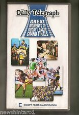 #JJ4,    RUGBY  LEAGUE  VHS VIDEO TAPE - GREAT GRAND FINAL  MOMENTS