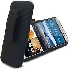 Coque Housse Etui Clip Ceinture et fonction Stand Pour HTC One M9 Noire