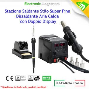 8786D STAZIONE DIGITALE AD ARIA CALDA CON SALDATORE 2 IN 1 SALDANTE ZD8922 ANFEL