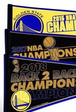 3ct Golden State Warriors 3x NBA Champs Championship Pennants (2015, 2017, 2018)
