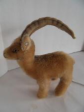 Steiff ram sheep goat mountain goat mohair button stuffed animal Germany 1753