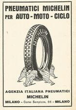 Z2394 Pneumatici MICHELIN - Pubblicità 1929 - Vintage advertising